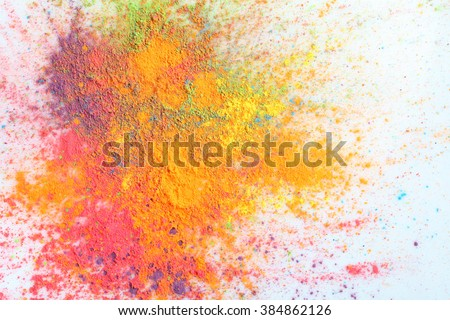 Celebrate festival Holi. Indian Holi festival of colours - stock photo