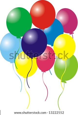 Celebrating balloons - stock photo