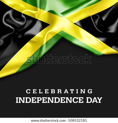 Celebrating Jamaica Independence Day Stock Illustration - Jamaica independence day