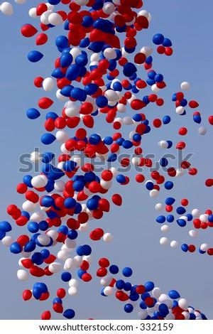 Celebration Balloons Released - stock photo