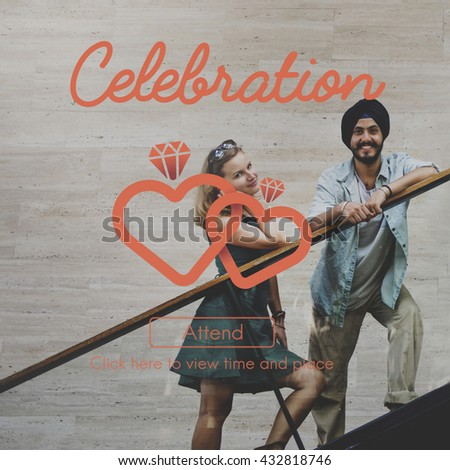 Celebration Celebrate Anniversary party Occasion Concept - stock photo