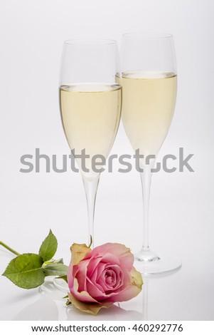Celebration Champagne rose - stock photo