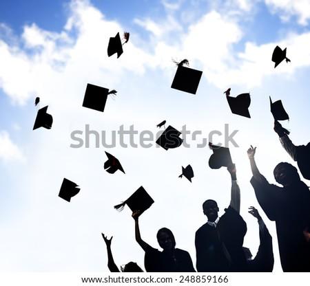 Celebration Education Graduation Student Success Learning Concept - stock photo