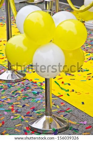 Celebration entrance with balloons - stock photo
