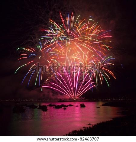 Celebration of Light - Vancouver's International Fireworks Competition 2011 - stock photo