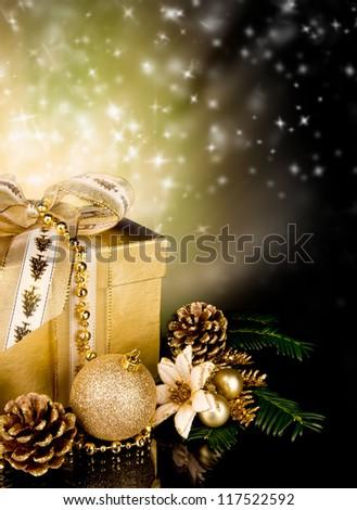 Celebration theme with christmas gift - stock photo