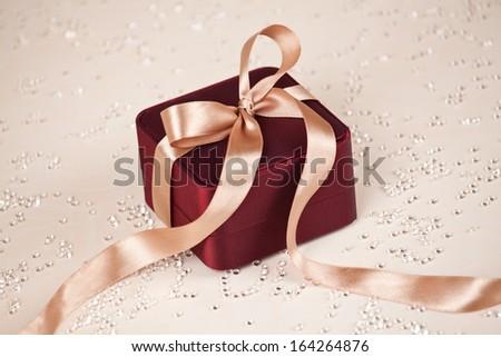 Celebration theme with Luxury present - stock photo