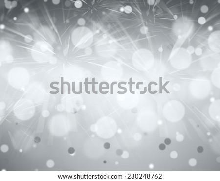 Celebratory fireworks on a gray background. - stock photo