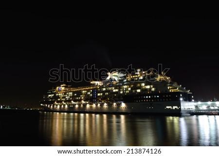Celebrity Millennium - YOKOHAMA, JAPAN - MAY 5, 2014 Celebrity Millennium is the flagship of the Millennium-class cruise ships, operated by Celebrity Cruises line. - stock photo