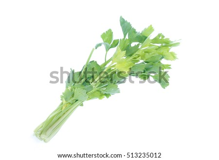 Celery isolated on a white background