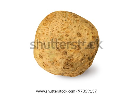 Celery root isolated on a white - stock photo