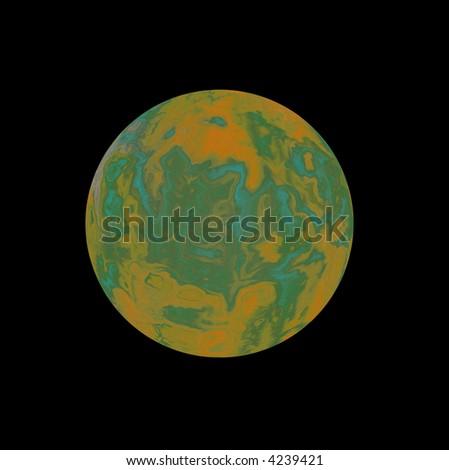 Celestial planet - stock photo