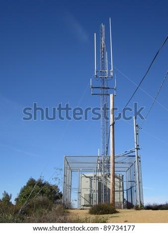Cell antenna - stock photo