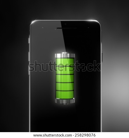 Cell phone battery concept - stock photo