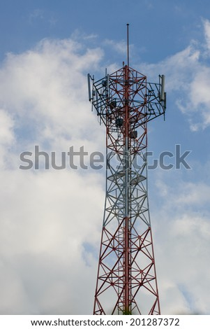Cell phone signal station  - stock photo