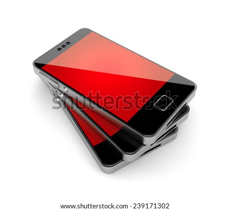 Cell phones - stock photo