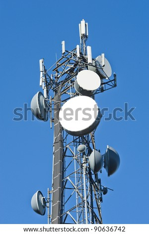 Cell tower and radio antenna