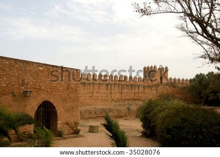 Cellah - ancient Roman palace and necropolis near Rabat, Morocco - stock photo