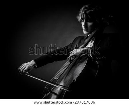 cellist - stock photo