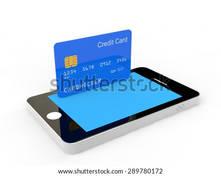 Cellphone and credit card