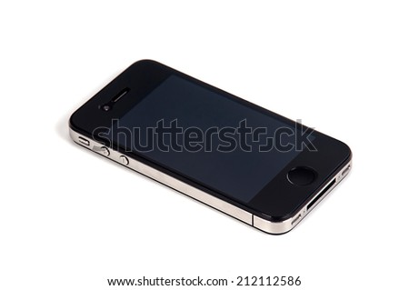 Cellphone isolated in a white background