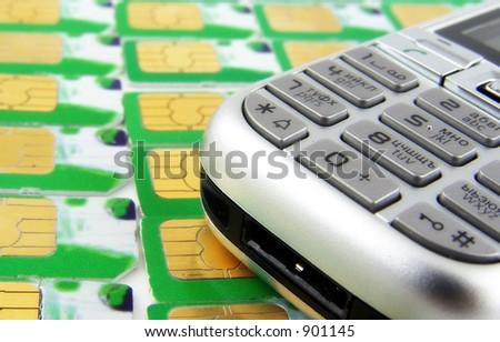 cellphone num keyboard - stock photo
