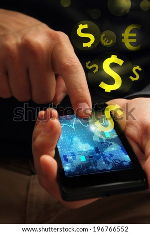 cellphone payment - stock photo