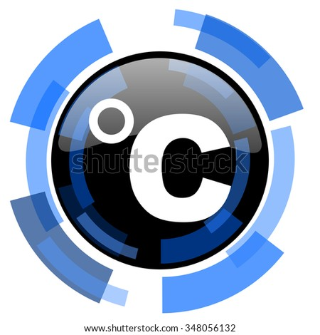 celsius black blue glossy web icon