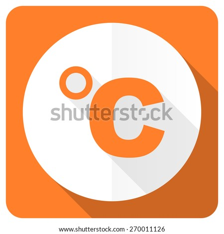 celsius orange flat icon temperature unit sign  - stock photo