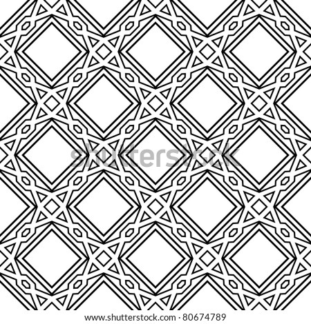 celtic monochrome seamless pattern