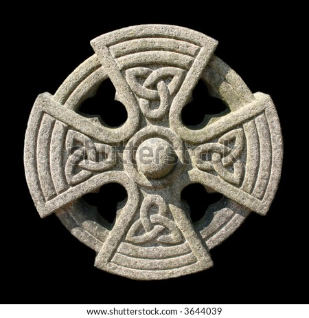 Celtic stone cross - stock photo