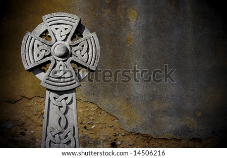 celtic tombstone - stock photo