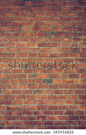 cement and brick wall texture background, image used retro vintage tone filter - stock photo