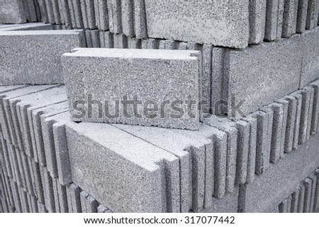 Cement bricks - stock photo