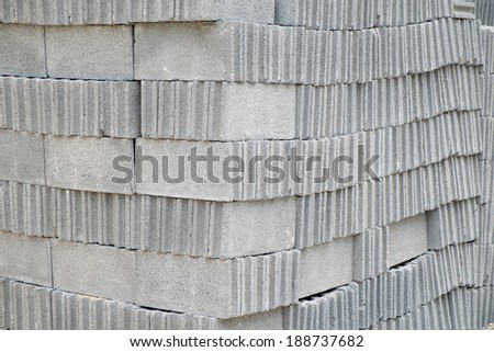 Cement bricks step for Construction - stock photo