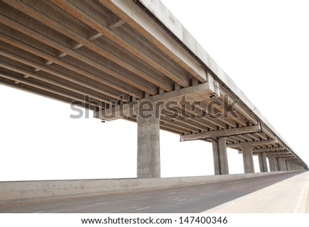cement bridge infra structure  - stock photo