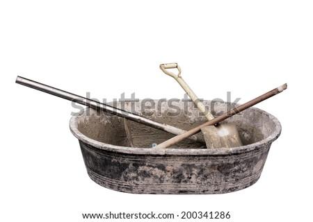 Cement construction equipment tool - stock photo