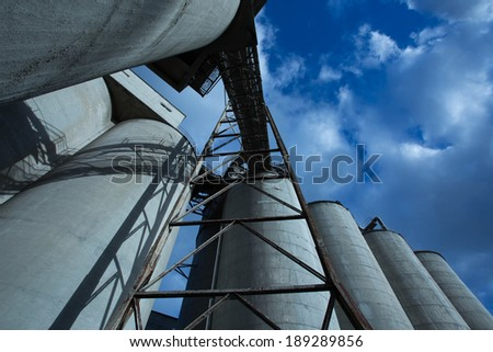 Cement Factory Abandoned building - stock photo