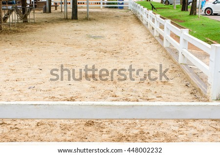 cement fence Stable