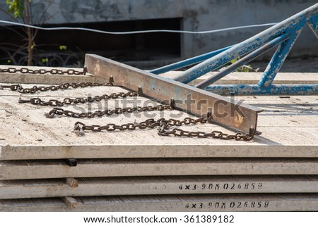 Cement floor for construction site