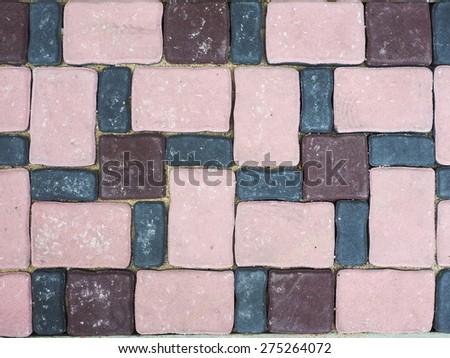 Cement floor tile pattern - stock photo