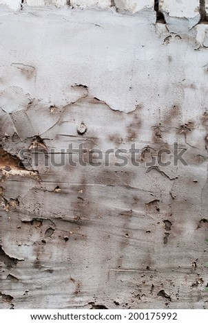 Cement Grunge Scratched Wall, handmade vintage - stock photo