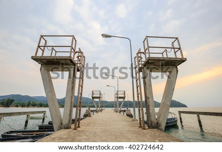 CEMENT JETTY PORT - stock photo