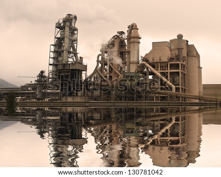 cement manufactures - stock photo