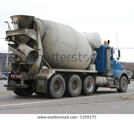 Cement Mixer Truck - stock photo