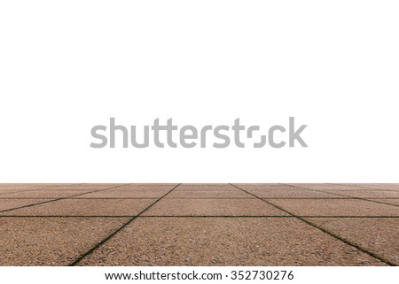 Cement pavement - stock photo