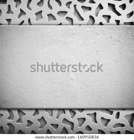 cement wall with carving  - stock photo