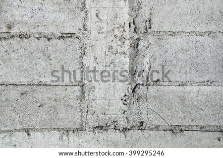 Cement wall without color