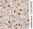 Cement with pebbles stones fragment as abstract background composition - stock photo