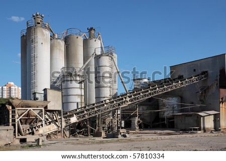 Cement works and its silos